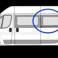 Fiat Ducato N/S/M Fixed Window in Privacy Tint LWB (L3)