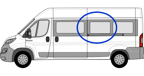 Fiat Ducato N/S/M Fixed Window in Privacy Tint (Extra LWB)