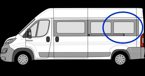 Fiat Ducato N/S/R Fixed Window in Privacy Tint LWB (L3)