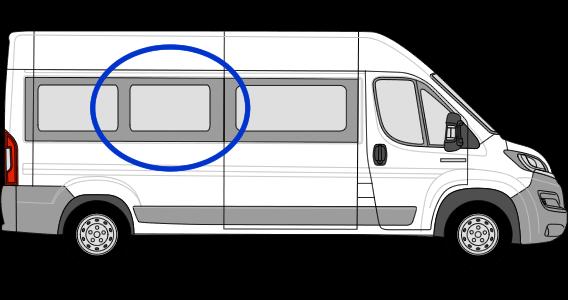 Fiat Ducato O/S/M Fixed Window in Privacy Tint LWB (L3)