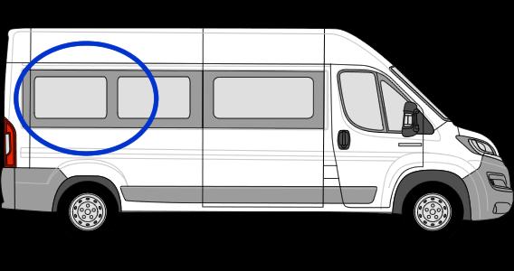 Fiat Ducato O/S/R Fixed Window in Privacy Tint LWB (L3)