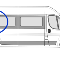 Citroen Relay O/S/R Fixed Window in Privacy Tint LWB (L3)