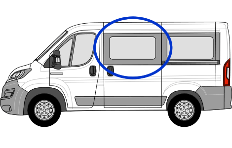 Fiat Ducato N/S/F Sliding in Privacy Tint (SWB)