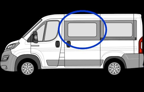 Peugeot Boxer N/S/F Sliding Window in Privacy Tint (SWB)