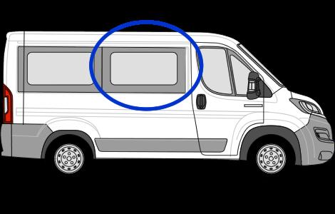 Peugeot Boxer O/S/F Sliding Window in Privacy Tint (SWB)