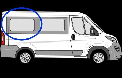 Fiat Ducato O/S/R Fixed Window in Privacy Tint (SWB)