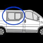 Vauxhall Vivaro O/S/F Opening Window in Privacy Tint 1