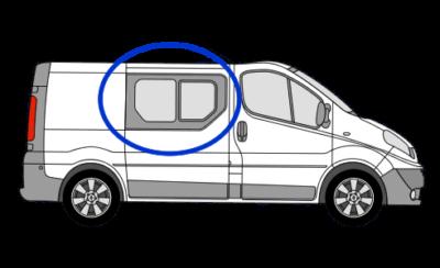 Vauxhall Vivaro O/S/F Opening Window in Privacy Tint