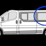 Vauxhall Vivaro N/S/R (Rear) Fixed Window in Privacy Tint LWB 1
