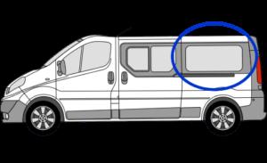 Vauxhall Vivaro N/S/R (Rear) Fixed Window in Privacy Tint LWB