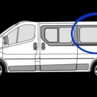 Nissan Primastar N/S/R (Rear) Fixed Window in Privacy Tint LWB