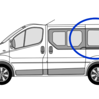 Nissan Primastar N/S/R (Rear) Fixed Window in Privacy Tint SWB