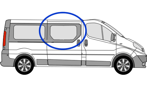 Vauxhall Vivaro O/S/F Fixed Window in Privacy Tint