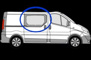 Vauxhall Vivaro O/S/F Fixed Window in Privacy Tint FOR SLIDING DOOR