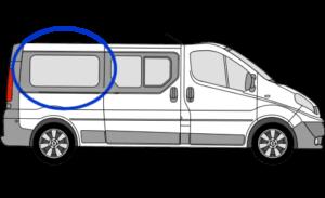 Vauxhall Vivaro O/S/R (Rear) Fixed Window in Privacy Tint LWB