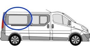Vauxhall Vivaro O/S/R (Rear) Fixed Window in Privacy Tint LWB FOR SLIDING DOOR