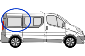 Vauxhall Vivaro O/S/R (Rear) Fixed Window in Privacy Tint SWB