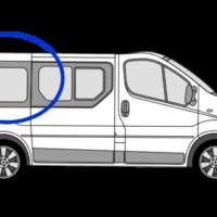 Nissan Primastar O/S/R (Rear) Fixed Window in Privacy Tint SWB