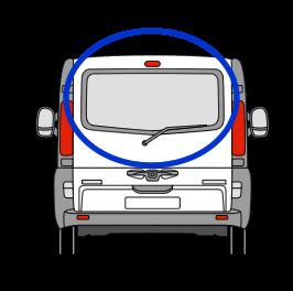 Vauxhall Vivaro Tailgate Glass In Privacy Tint