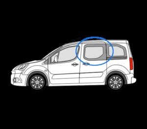 Citroen Berlingo N/S/F Fixed Window in Privacy Tint