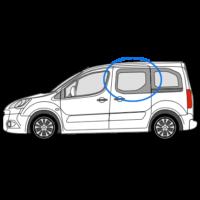 Citroen Berlingo O/S/F Fixed Window in Privacy Tint