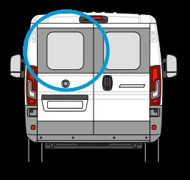Peugeot Boxer Nearside Back Door Glass In Privacy