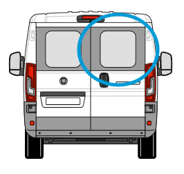 Fiat Ducato Offside Back Door Glass In Privacy