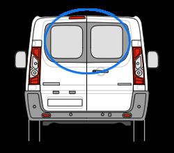 Peugeot Expert Twin Rear Door in Privacy Tint