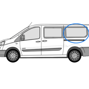 Citroen Despatch N/S/R Fixed Window in Privacy Tint (LWB)