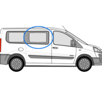Fiat Scudo O/S/F Fixed Window in Privacy Tint