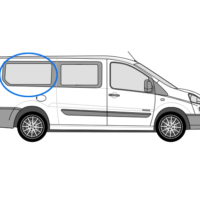Citroen Despatch O/S/R Fixed Window in Privacy Tint (LWB)