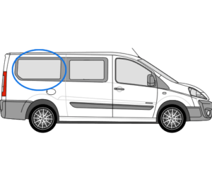 Peugeot Expert O/S/R Fixed Window in Privacy Tint (LWB)