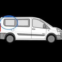 Fiat Scudo O/S/R Fixed Window in Privacy Tint (SWB)