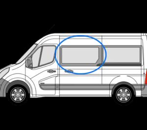 Renault Master 2010> N/S/F (MWB/LWB/XLWB) Fixed Window In Privacy Tint