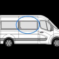 Renault Master 2010> O/S/F (MWB/LWB/XLWB) Fixed Window In Privacy Tint