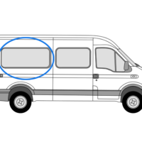 Renault Master 1997 > 2010 O/S/R MWB Fixed Window In Privacy Tint