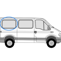 Renault Master 1997 > 2010 O/S/R SWB/LWB Fixed Window In Privacy Tint
