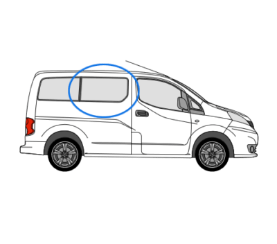 Nissan Nv200 Osf Opening Window In Privacy Tint