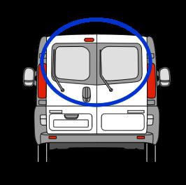 Vauxhall Vivaro X82 Back Door Glass (pair of windows) In Privacy Tint