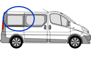 Vauxhall Vivaro O/S/R (Rear) Fixed Window in Privacy Tint SWB FOR SLIDING DOOR