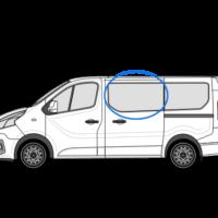 Vauxhall Vivaro X82 (2014 >) N/S/F Fixed Window in Privacy Tint