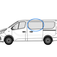 Fiat Talento X82 (2014 >) N/S/F Opening Window in Privacy Tint
