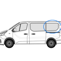 Vauxhall Vivaro X82 (2014 >) N/S/R (Rear) Fixed Window in Privacy Tint SWB