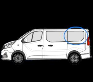 Nissan Primastar X82 (2014 >) N/S/R (Rear) Fixed Window in Privacy Tint LWB