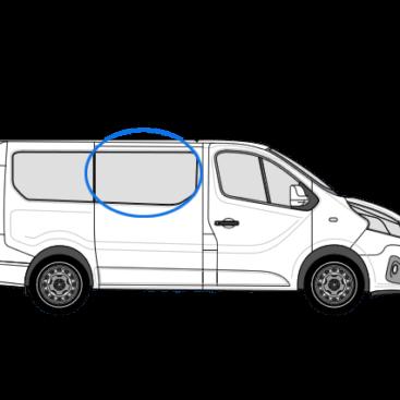 Vauxhall Vivaro X82 (2014 >) O/S/F Fixed Window in Privacy Tint