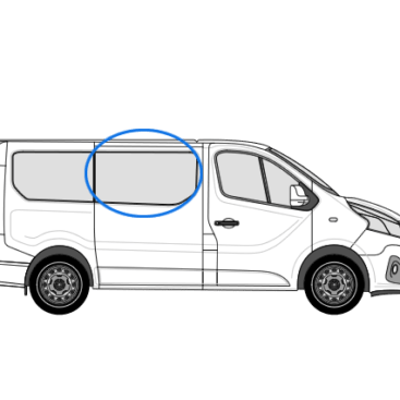 Renault Trafic X82 (2014 >) O/S/F Opening Window in Privacy Tint