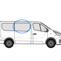 Fiat Talento X82 (2014 >) O/S/F Opening Window in Privacy Tint