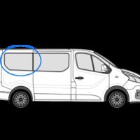 Vauxhall Vivaro X82 (2014 >) O/S/R (Rear) Fixed Window in Privacy Tint SWB