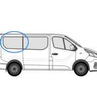 Vauxhall Vivaro X82 (2014 >) O/S/R (Rear) Fixed Window in Privacy Tint LWB