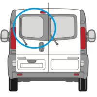 Vauxhall Vivaro X82 Nearside Back Door Glass In Privacy Tint